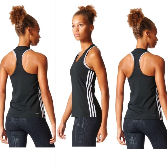 separation shoes 6002a a6d71 adidas Tops - Adidas Women s 3 Stripe Black Tank Top Climalite